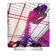 Paleo Rex Shower Curtain