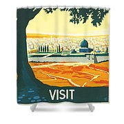 Palestine Shower Curtain by Nomad Art And  Design