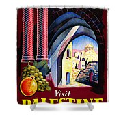 Palestine Travel Poster Shower Curtain
