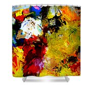Palette Abstract Square Shower Curtain