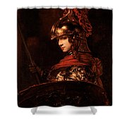 Pallas Athena  Shower Curtain by Rembrandt
