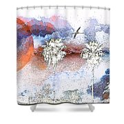Palm Abstract Hollywood 2 Shower Curtain
