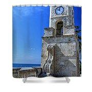 Palm Beach Clock Tower  Shower Curtain