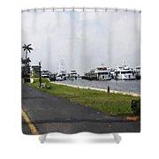 Palm Beach Marina Shower Curtain