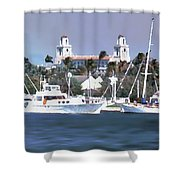 Palm Beach Middel Bridge Shower Curtain