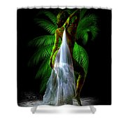 Palm Falls Shower Curtain