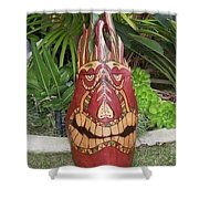 Palm Frond Tiki Shower Curtain