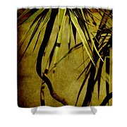 Palm Fronds Are Green Shower Curtain