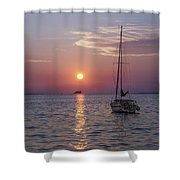 Palm Harbor Florida At Sunset Shower Curtain