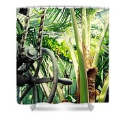 Palm House Pulley Shower Curtain