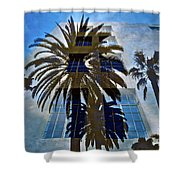 Palm Mural Shower Curtain