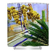 Palm Of The Dock Shower Curtain