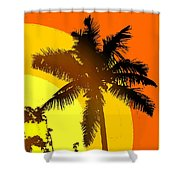 Palm On The Half Shell Shower Curtain