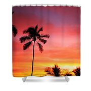Palm Silhouettes Shower Curtain