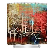 Palm Springs California  Windmill Shower Curtain