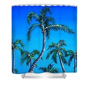 Palm Tops Shower Curtain