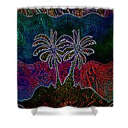 Palm Tree Abstraction Shower Curtain