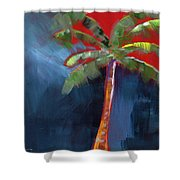 Palm Tree- Art By Linda Woods Shower Curtain