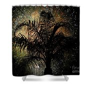 Palm Tree Fireworks Shower Curtain