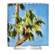Palm Tree Needs A Chiropractor Painterly I Shower Curtain