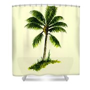 Palm Tree Number 1 Shower Curtain