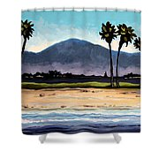 Palm Tree Oasis Shower Curtain