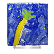 Palm Tree And Stars Shower Curtain