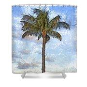 Palm Tree Pencil Shower Curtain