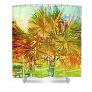 Palm Tree Portrait Shower Curtain