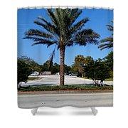 Palm Tree Psl. Shower Curtain