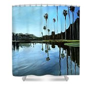 Palm Tree Reflections Shower Curtain