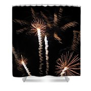 Palm Trees In Space Shower Curtain