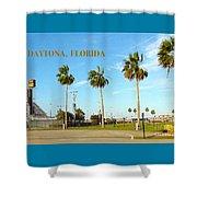 Palm Trees Of Daytona Florida Shower Curtain