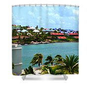 Palm Trees Of Oyster Bay Shower Curtain