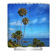 Palm Trees On The Pacific Shower Curtain