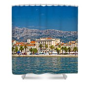 Palm Waterfront Of Split City Shower Curtain