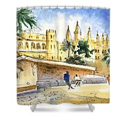 Palma De Mallorca Cathedral Shower Curtain