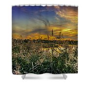 Palmer River At Sunset Shower Curtain