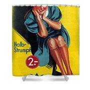 Palmers - Halb-strumpf - Vintage Germany Advertising Poster Shower Curtain