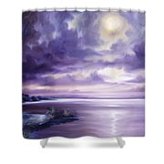 Palmetto Moonscape Shower Curtain