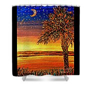 Palmetto Sunset  Shower Curtain