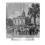 Palmetto Tree And Old Custom House Shower Curtain