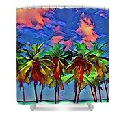 Palms 2 Shower Curtain
