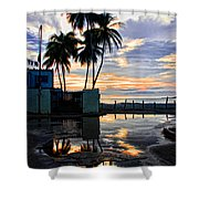 Palms And Sunshine Shower Curtain