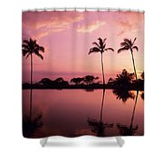 Palms At Still Lagoon Shower Curtain