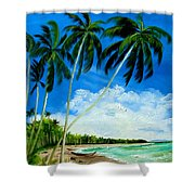 Palms By The Ocean Shower Curtain