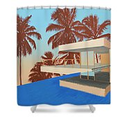 Palms On The Edge Shower Curtain