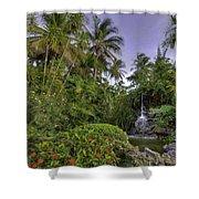 Palms Pool Shower Curtain