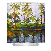Palms Reflections Shower Curtain