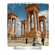 Palmyra-tetrapylon Shower Curtain